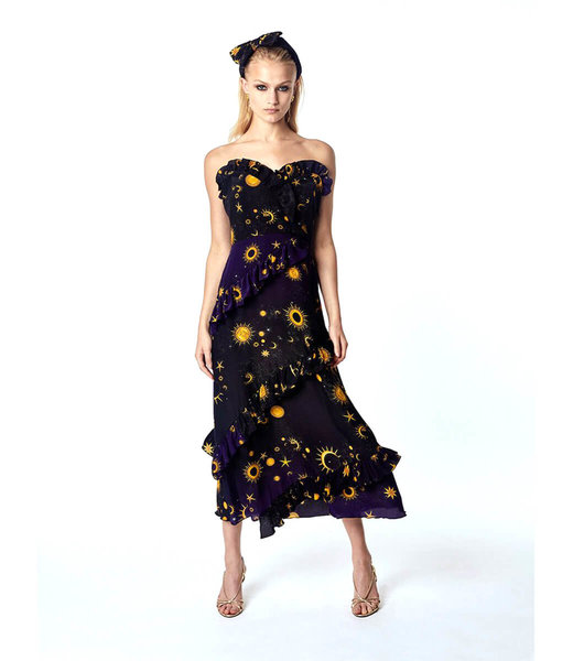 Hayley Menzies Superstar Struck Midi Frill Dress