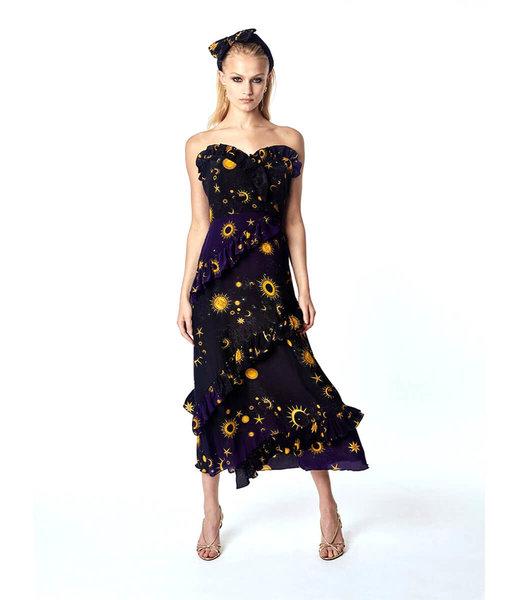 Hayley Menzies Superstar Struck Midi Frill Kleid