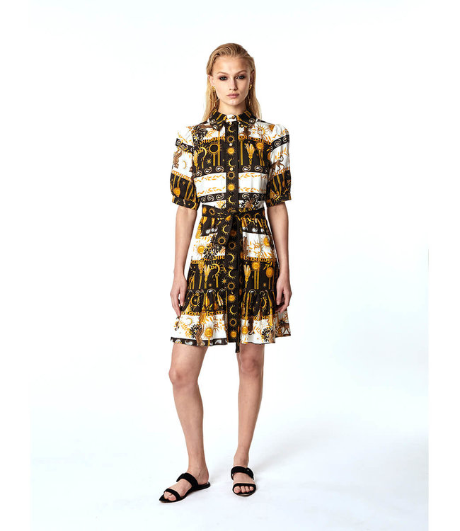 Hayley Menzies Enchanted Leopard Mini Shirt Dress