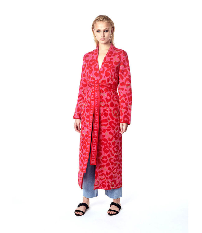 Hayley Menzies Ikat Duster Hot Pink/Rot