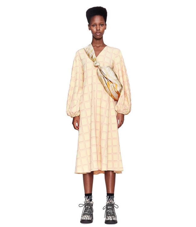 Stine Goya Rosen Dress - Grid Fog