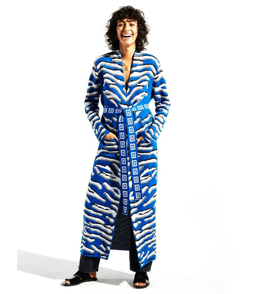 Hayley Menzies Shimmering Tiger Baumwoll Jacquard Duster