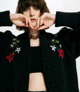 Hayley Menzies Gloria Embroidered Alpaca Cardi Dress