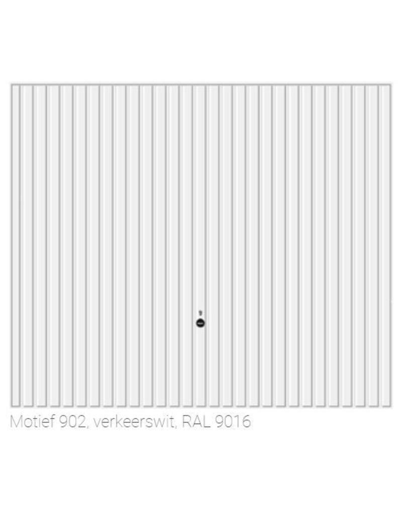 Garagedeur 2500 x 2375 mm, RAL 9016