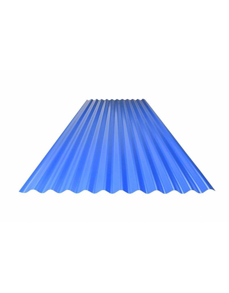 Metalen Golfplaat 76/18 Gebogen,  RAL 5010 Gentiaanblauw