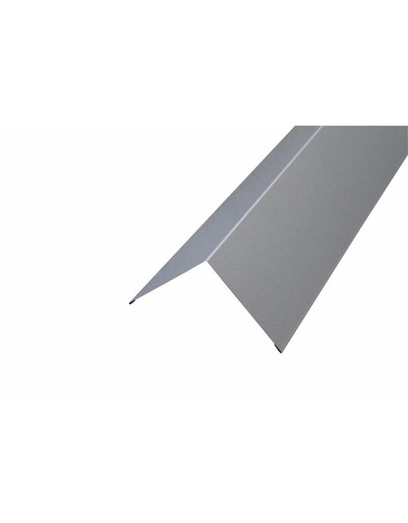 Hoekstuk, 100x100 mm RAL 9006 Blank Aluminium