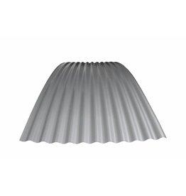 Metalen Golfplaat Gebogen, RAL 9006 Blank Aluminium