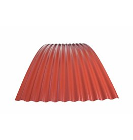Metalen Golfplaat Gebogen, RAL 3009 Oxiderood