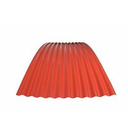 Metalen Golfplaat Gebogen RAL 3016 Koraalrood