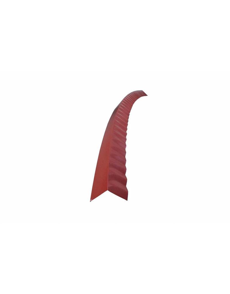 Hoekstuk gebogen, 100x100 mm RAL 3009 Oxiderood