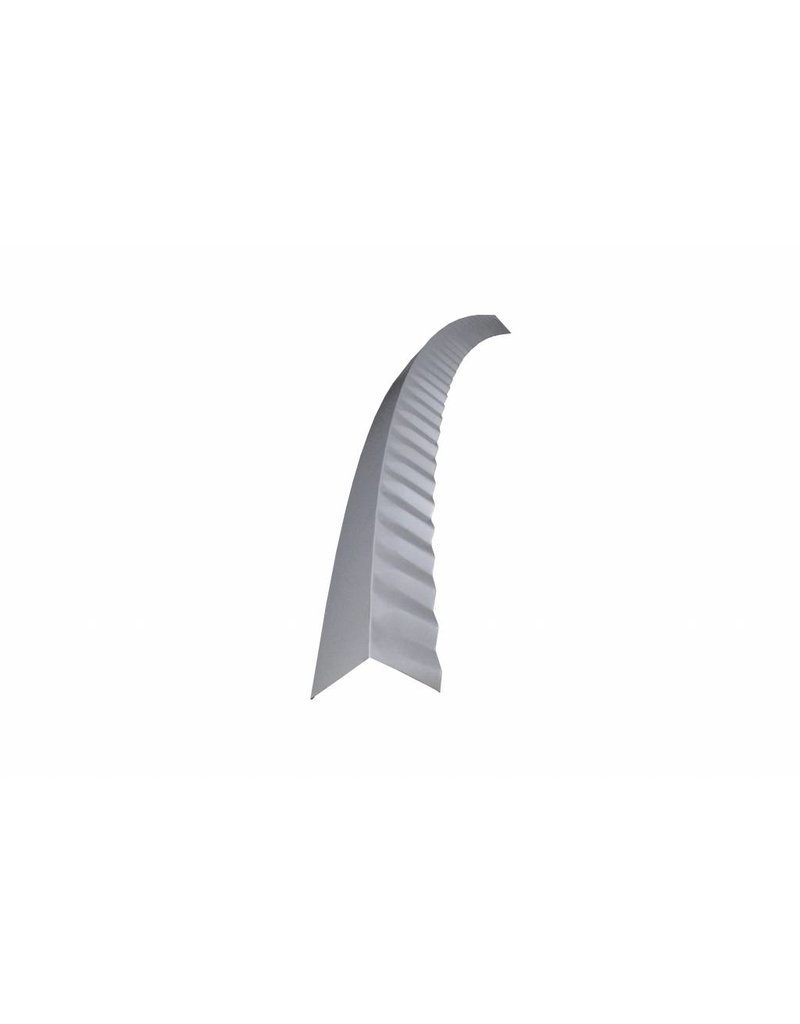 Hoekstuk gebogen, 100x100 mm RAL 9006 Blank Aluminium