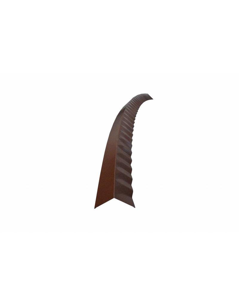 Hoekstuk gebogen, 100x100 mm RAL 8014 Sephiabruin