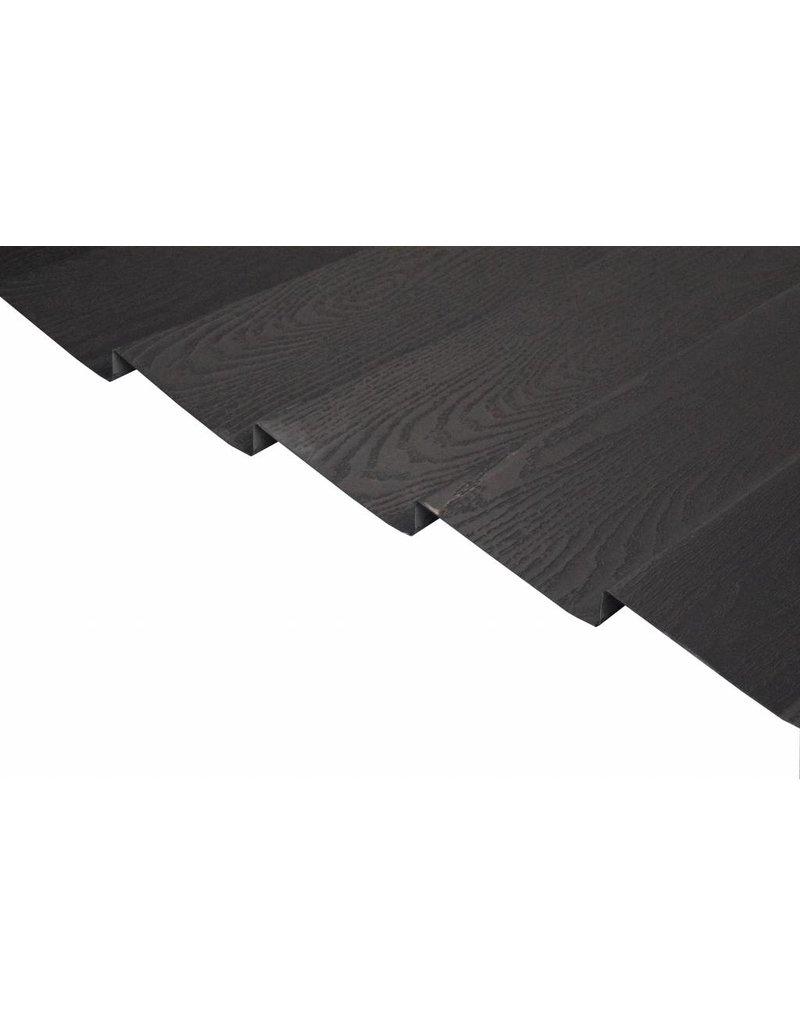 Metalen potdekselplaten, Houtnerfstructuur, mat zwart