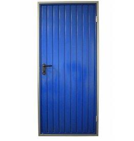 Stalen loopdeur, incl frame, RAL 5010 Gentiaanblauw