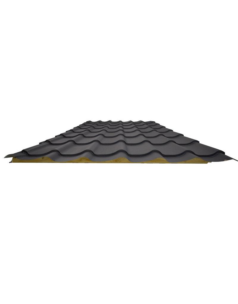 Dakpanpaneel Mat Zwart 40 mm