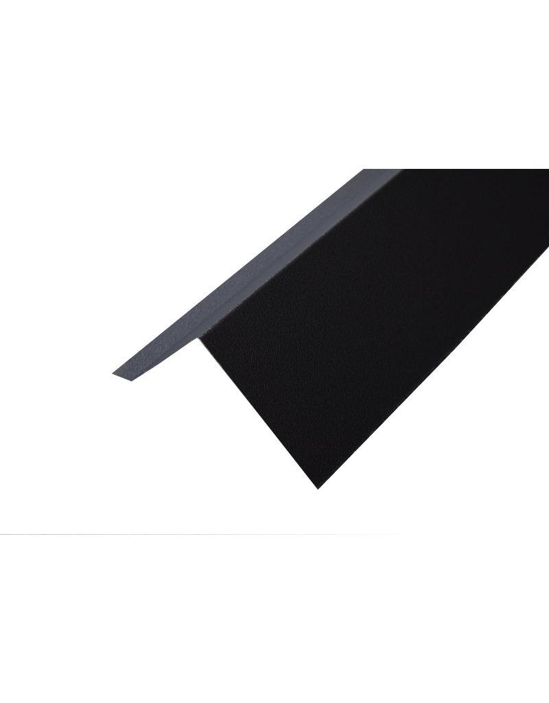 Hoekstuk, 100x100 mm Mat Zwart