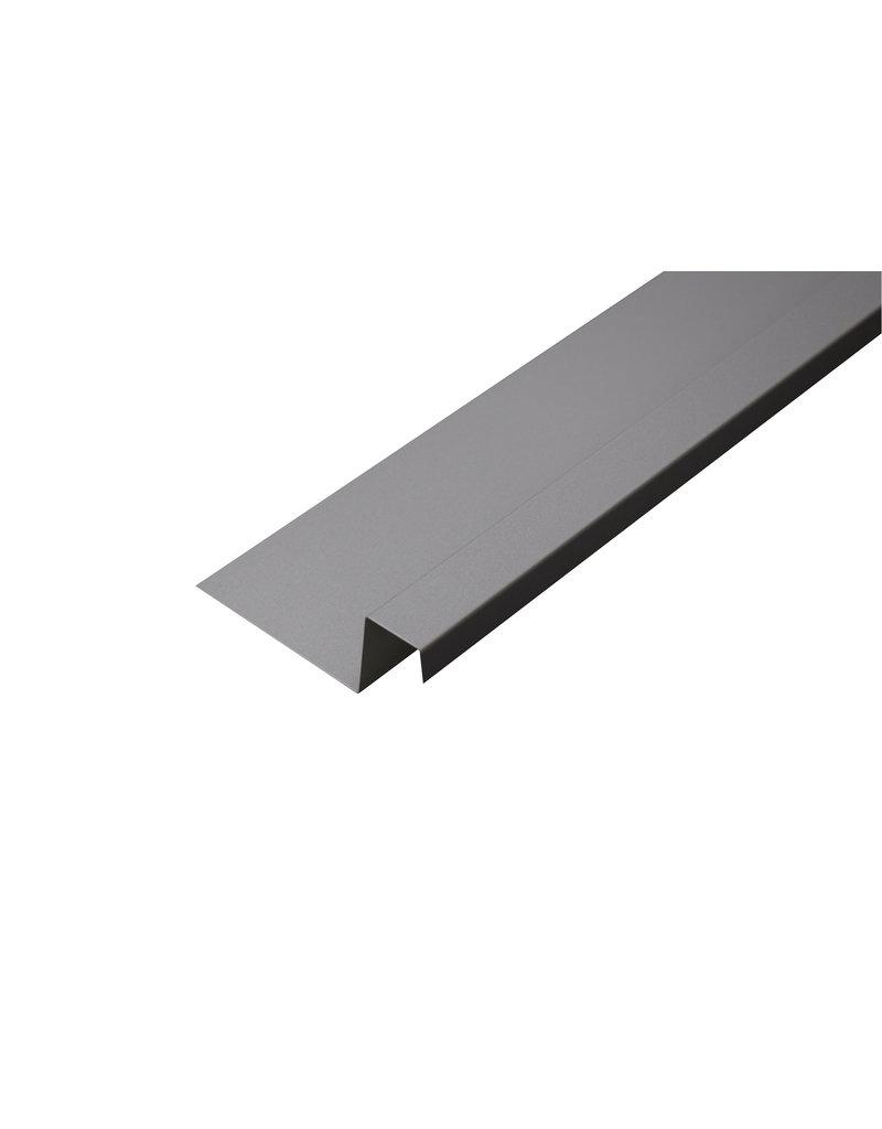 Lekdorpel, 80/40/25/15 mm, RAL 9006 Blank Aluminium