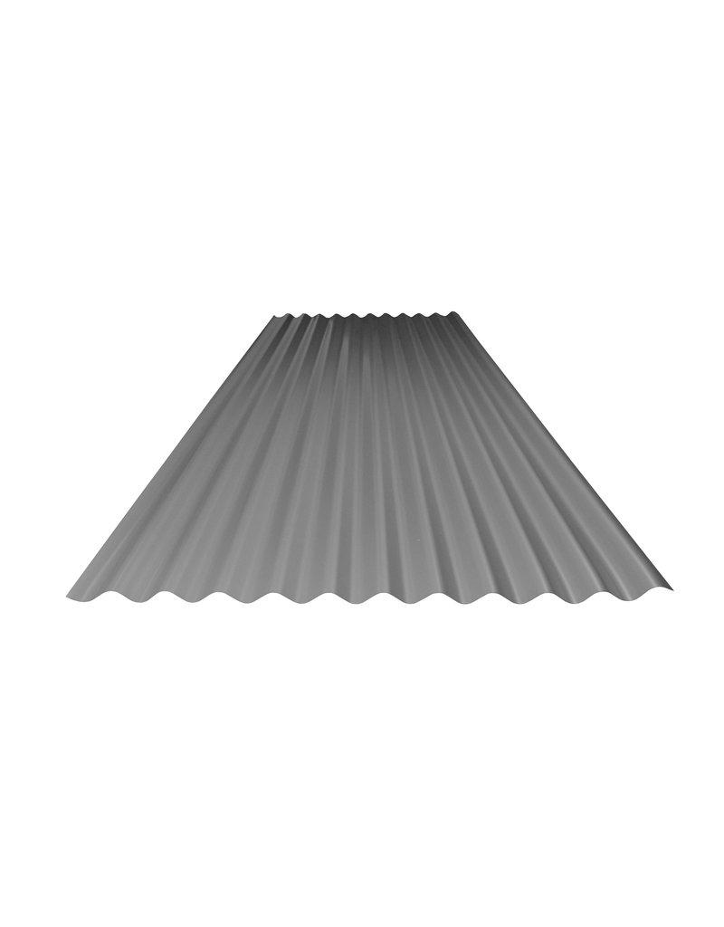 Metalen Golfplaat 76/18, RAL 9007 Grijs Aluminium