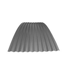 Metalen Golfplaat Gebogen, RAL 9007 Grijs Aluminium