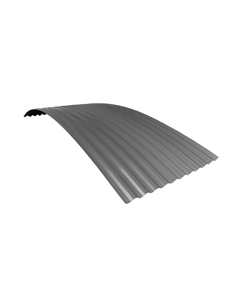 Metalen Golfplaat 76/18 Gebogen RAL 9007 Grijs Aluminium