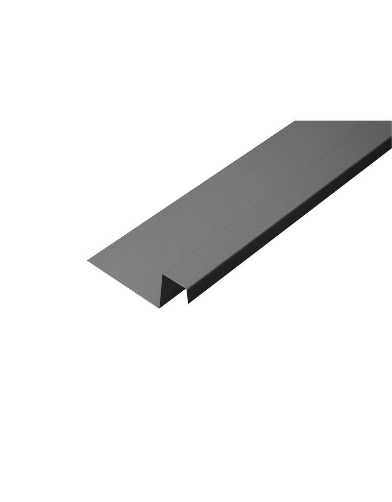 Snoei Lekdorpel, 80/40/25/15 mm, RAL 9007 Grijs Aluminium