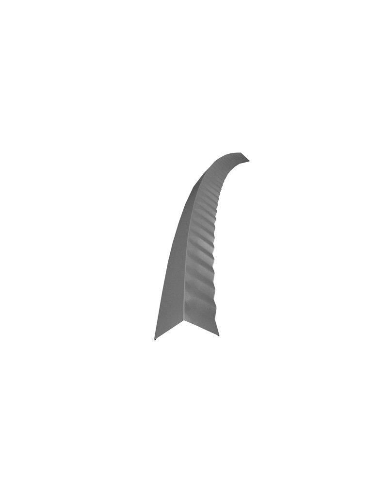Hoekstuk gebogen, 100x100 mm RAL 9007 Grijs Aluminium