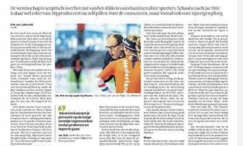 Ook de Volkskrant schrijft artikel over Orise Vitamins