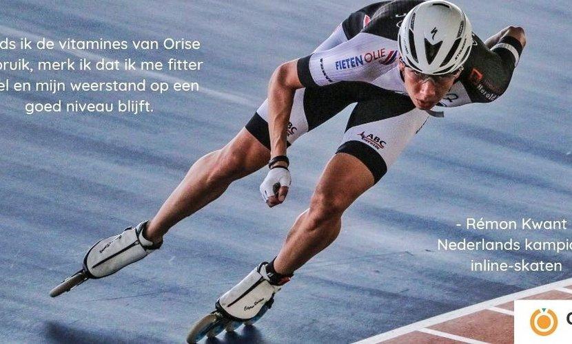 Orise Vitamins ondersteunt Nederlands kampioen inline-skaten Rémon Kwant