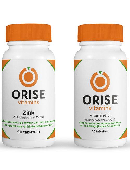 Orise Vitamins Weerstandspakket (Vitamine D & zink)
