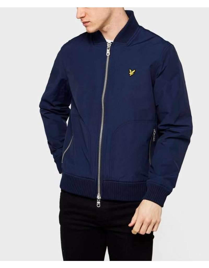 Lyle and scott Nylon knitted bomber