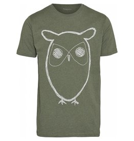 Knowledge Cotton Apparel single jersey with owl