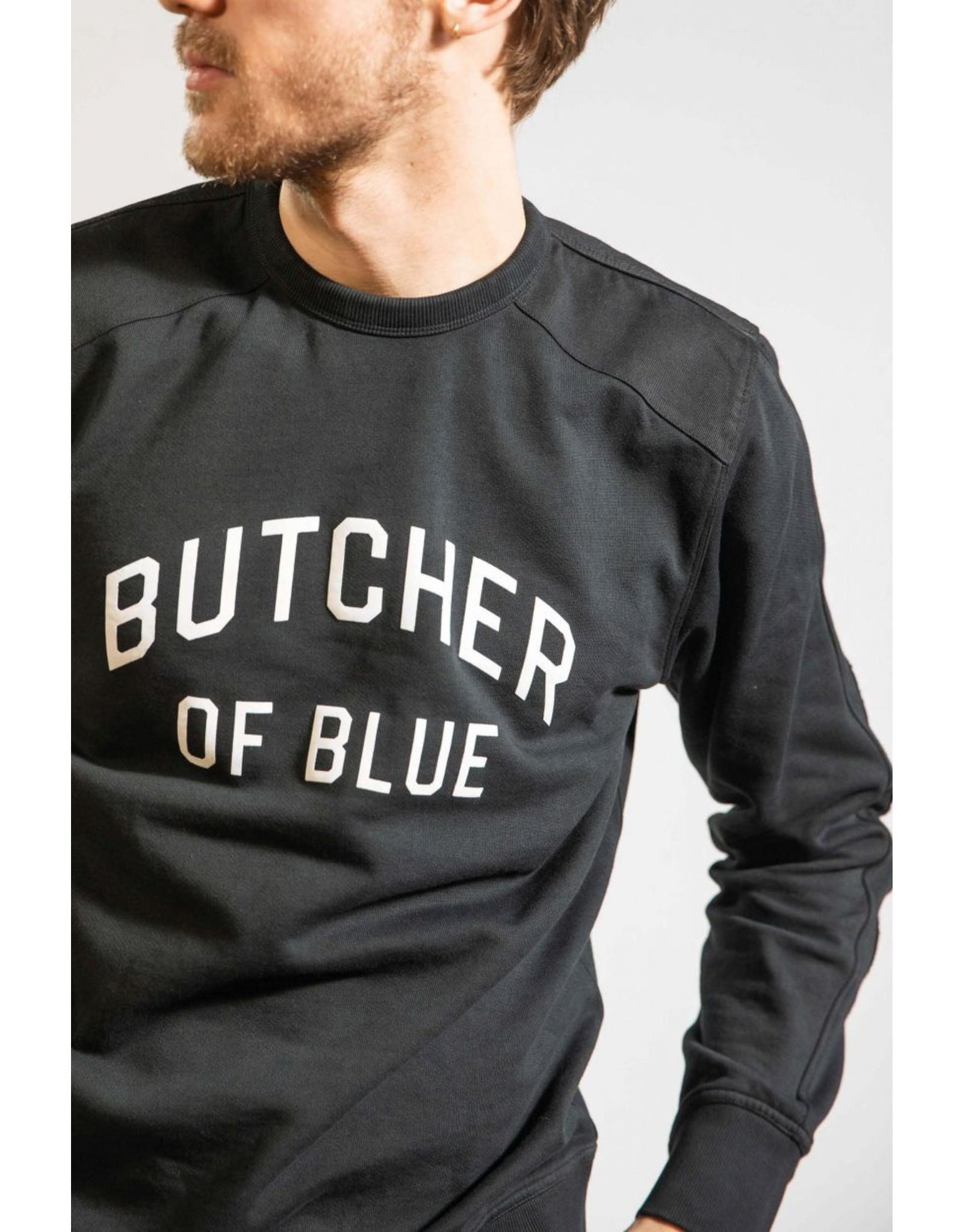 Butcher of Blue Peck line crew sweat l/s