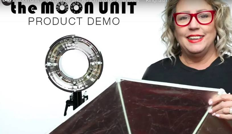 Moon Unit | Assemble and Attach it to our AlienBees Ringflash