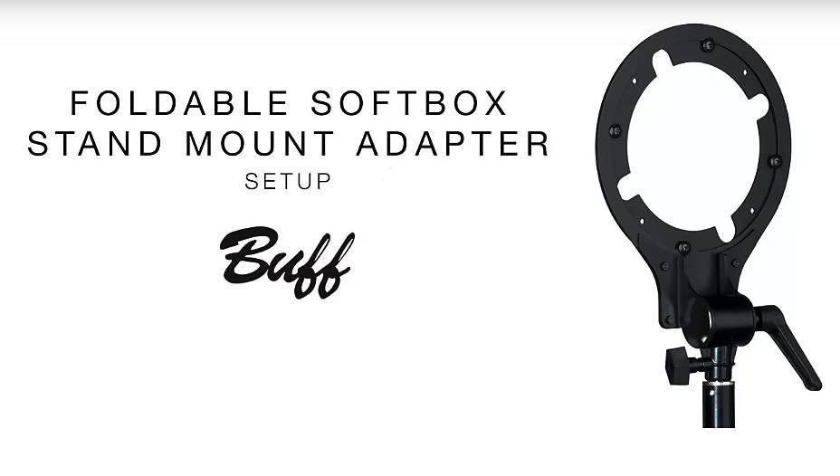 Foldable Softbox Stand Mount Adapter | Setup