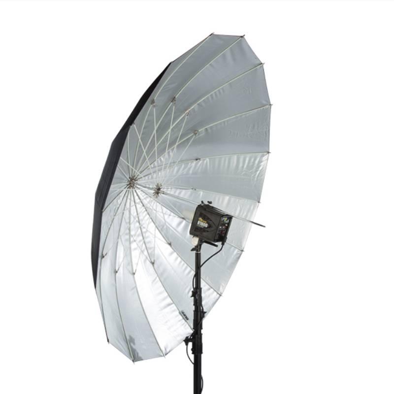 "86"" Soft Zilver PLM Paraplu-1"