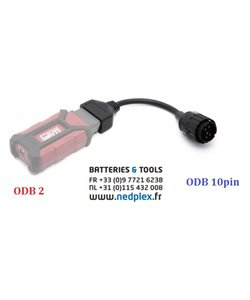 GS911 Wifi  Hexcode ODB2 +cable  10 pin (avec reduction)