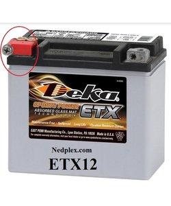 ETX12 DEKA  batterie  made in USA