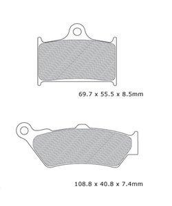 R3 brake pad  for synth-Br voor Rocket 3