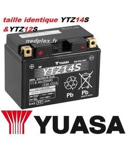 YTZ14S Yuasa AGM prête à l'emploi