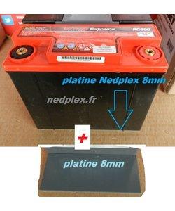 R1200RT platine  8mm+ protections de bornes pour PC680