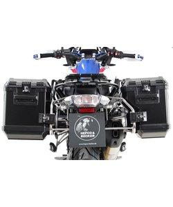 R1250GSLC Kofferset Cutout rek RVS met koffers (3) zwart