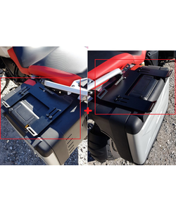 support bagages pour valises au-dessus vario BMW R1200GS/GSALC+ 1250 GS/GSALC