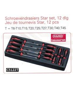 Torx schroevendraaierset C5122 Pard