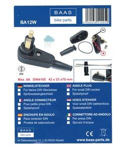 angle plug for small DIN socket,splashproof