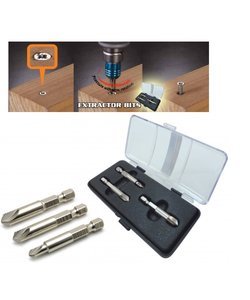 Extractors for damaged screws