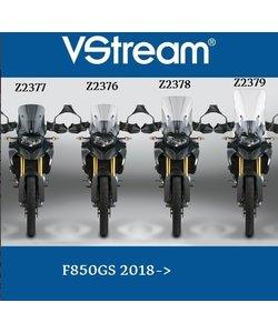 F850GS 2018->58.4cm,x40.3cm Z2379 Extensions de rétro nécessaire !! option Z5304