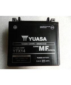 YTX14  YUASA geladen op fabriek (WET CHARGED)