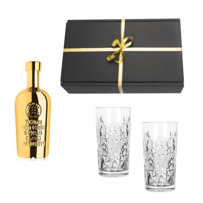 Gift pack gold gin