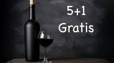 Wijnen 5+1 gratis