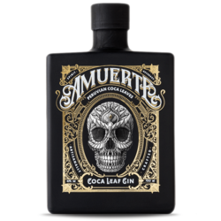 Amuerte cocoa leaf gin black edition